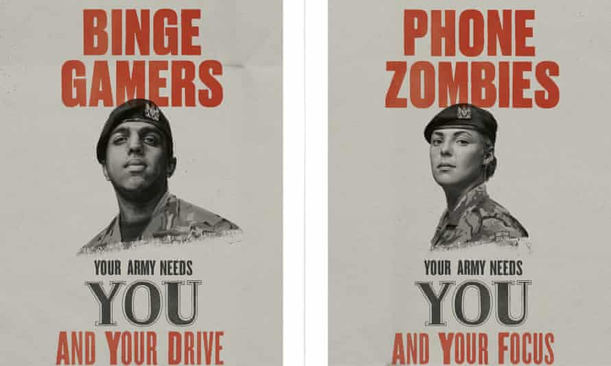 The army's latest recruitment campaign.