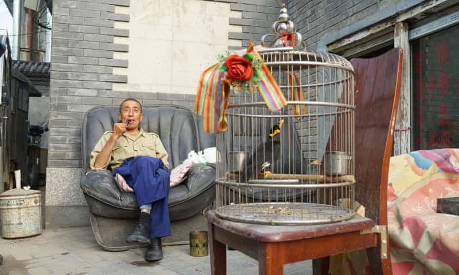 A wake-up call … old Beijingers keep birds caged in the hutongs.