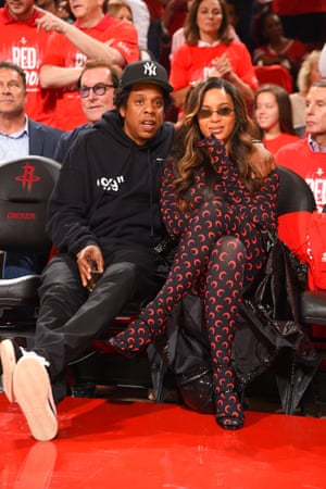 Jay-Z and Beyoncé at the NBA play-offs.