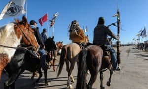 Generations of broken treaties, discrimination, police harassment and poverty have led to disillusion with mainstream politics among the Native Americans at Standing Rock.