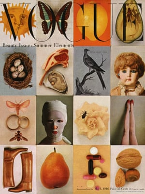 """""""Beauty Issue: Summer Elements,"""" Vogue cover, May 1, 1946"""