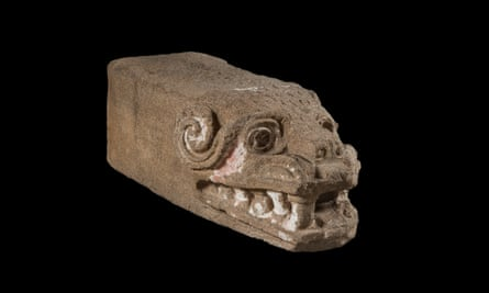 Worthy of a quest by Indiana Jones … a Feathered Serpent head.