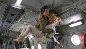 Midair acrobatics … Tom Cruise and Annabelle Wallis in The Mummy.