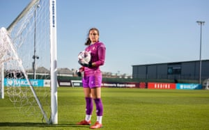 Eartha Cumings, goalkeeper for Bristol City Ladies FC, at the club's ground SGS College Campus in Bristol