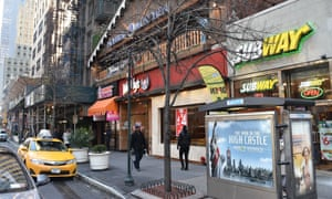 The new labelling law applies to restaurants in the city with more than 15 outlets across the US.