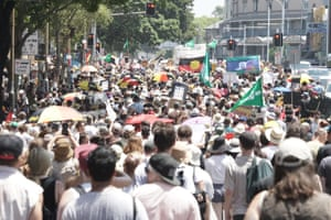 The crowd at the Sydney rally
