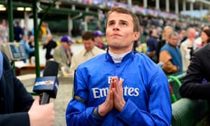 William Buick asks for divine intervention as he waits for the outcome of a stewards' inquiry.
