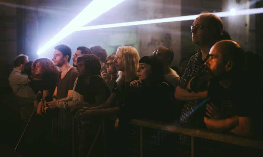 Some of the crowd at Berlin Atonal festival 2015