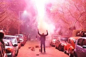 New Year's celebrations, Rotterdam, Netherlands.