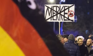 A sign at a demo organised by AfD in Erfurt