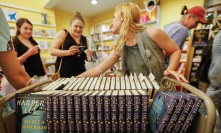 Bookshoppers in Decatur, Georgia.