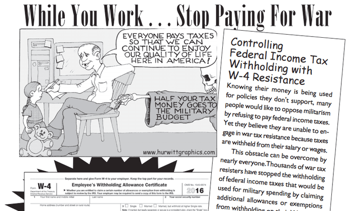 We will not pay: the Americans withholding their taxes to