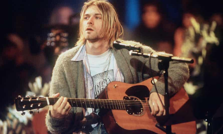 Kurt Cobain of Nirvana plays during the MTV Unplugged gig in New York in 1993. The guitar has sold for $6m.