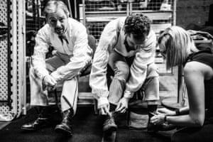 John Simm & John Light - backstage during 'Three Days In The Country' at the National Theatre