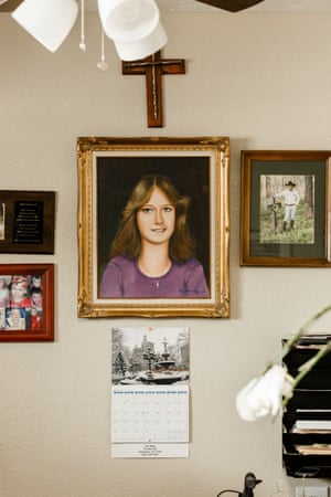 A portrait of Laura Miller in Tim Miller's offices.