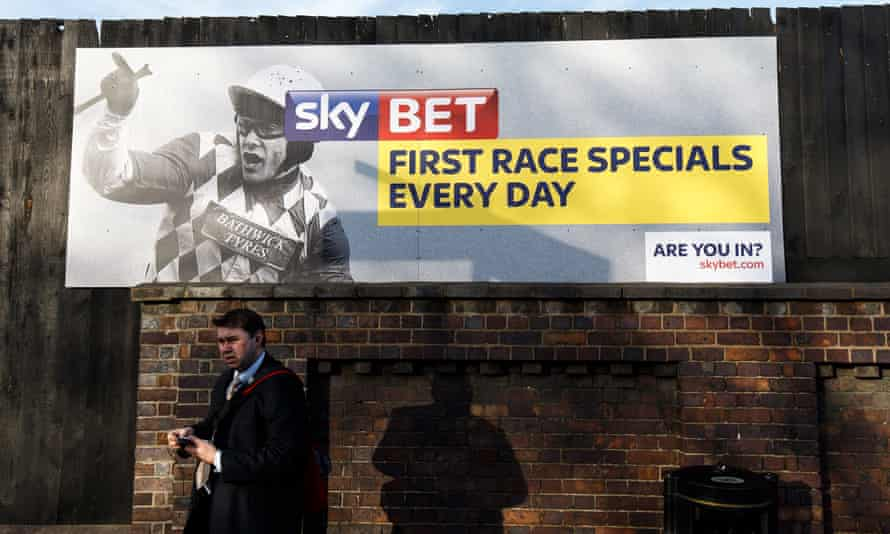 Sky Bet adverts are prominent at the major race meetings, including the Cheltenham Festival.