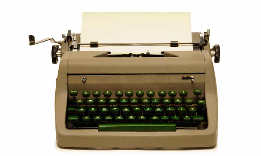 Vintage 1950s portable typewriter