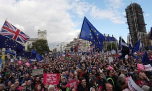 A People's Vote rally in Parliament Square in central London on 19 October 2019.