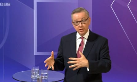 Michael Gove on the Question TIme special programme