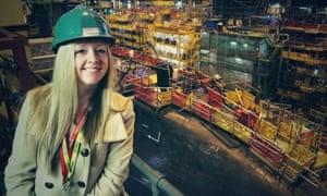 Amy Fenton at the BAE Systems shipyard in Barrow.