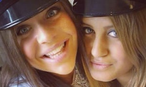 This June 10, 2012, photo shows Alexandra Mezher, right, and her friend Lejla Filipovic, left, when they graduated from high school in Boras Sweden.