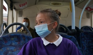 Secondary school pupils in England will be advised to wear face coverings in communal areas, such as corridors.