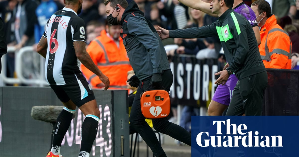 Newcastle v Spurs: fan stabilised and taken to hospital after medical emergency