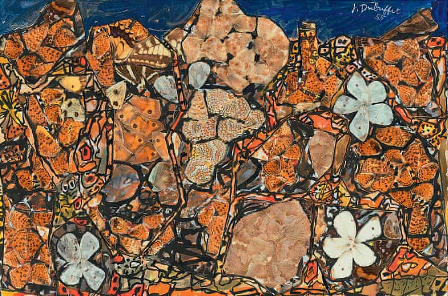 Garden with Melitaea (Jardin aux Mélitées) by Jean Dubuffet from the show at the Barbican, London.