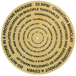 Christian Marclay, Record without a Cover, 1999