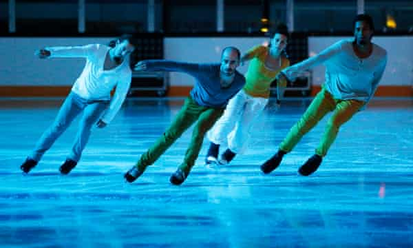 Tired of dressing up as Pinocchio … contemporary ice dance group Le Patin Libre.