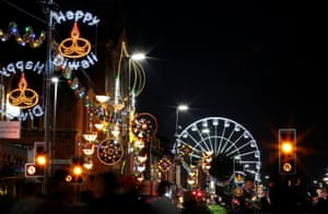 Light displays in Leicester