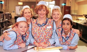 An all-female, mostly menopausal cast … Dinnerladies, Wood's first sitcom.