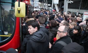 Finsbury Park - The tube strike in London closes stations and causes disruption to commuters.