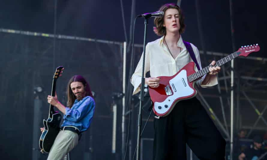 Blossoms: No 1 with a bullet (and just 8000 sales) ... The Stockport band perform in Lisbon, 13 July 2018.