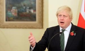 Boris Johnson in Belgrade