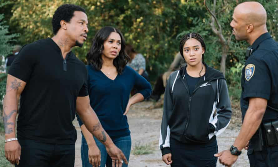 Fierce grip … from left, Russell Hornsby, Regina Hall, Amandla Stenberg and Common in The Hate U Give.