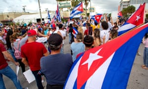 Cubans took to the streets to protest over the government's handling of the pandemic, the economy, as well as shortages of commodities on the island.