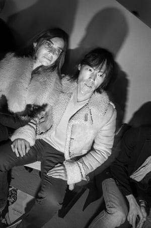 Carine Roitfeld and Stephen Gan at the Rodarte show in New York, 2013