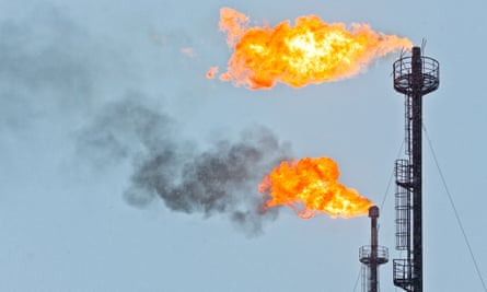 Torches for casing-head gas flaring in the Orenburg region of Russia
