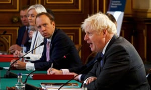 Boris Johnson speaks at the weekly cabinet meeting