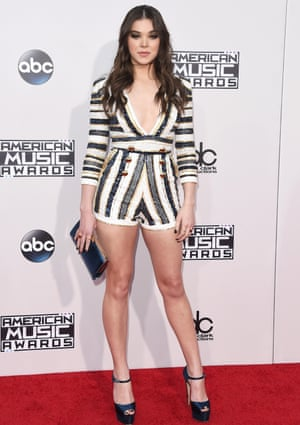 <strong>Get shorty</strong> Hailee Steinfeld in a sequinned playsuit.