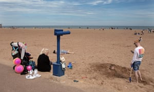 Passing time on Skegness beach.
