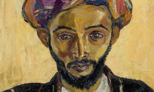 Detail from Arab in Black by Irma Stern, oil on canvas, 1939.