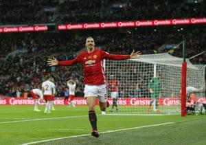 And celebrates, Zlatan style.