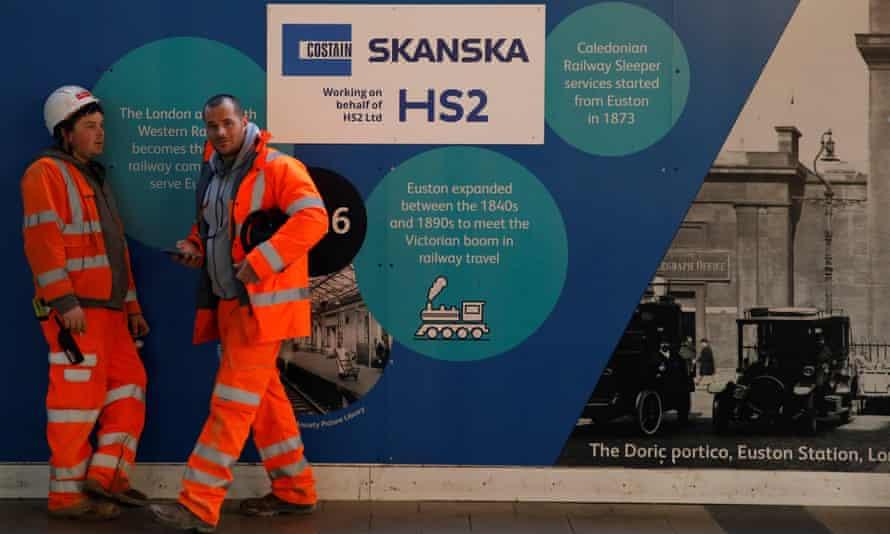 An HS2 construction site at Euston.