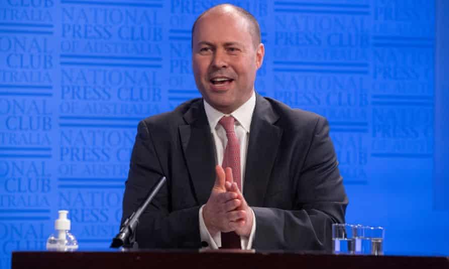 The Treasurer Josh Frydenberg at the National Press Club in Canberra. 24 July 2020