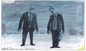 Martin Rowson on Whitty and Vallance's TV address to UK