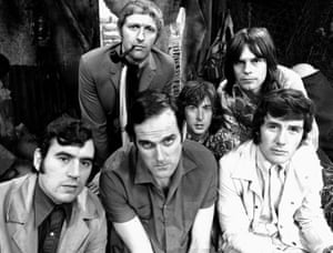 Never afraid … the Monty Python team in 1969 – at rear: Graham Chapman and Terry Gilliam; front: Terry Jones, John Cleese, Eric Idle and Michael Palin.
