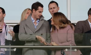 Andy Murray and his wife Kim are enjoying a day at the races today.
