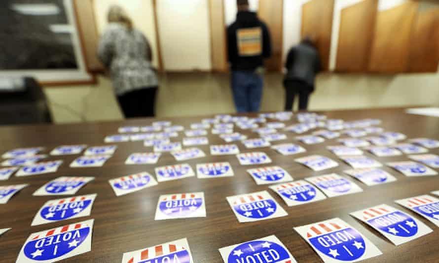 People vote in Kieler, Wisconsin, on 6 November 2018.